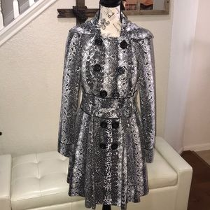 Candies Snake Print Trench-coat